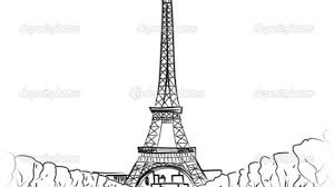 paris eiffel tower drawing easy eiffel tower drawing drawing art