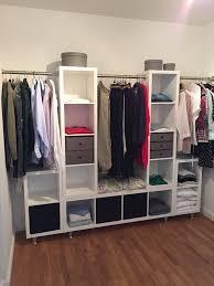 Kleiderschrank Viel Stauraum Kleiderschrank Ikea Kallax Stangen Und Die Füße über Ebay