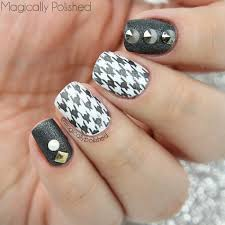 magically polished nail art blog rebel houndstooth