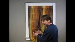 How To Hang Curtain Swags by How To Install A Tie Up Curtain Youtube