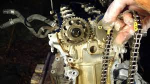 how to disassemble engine vvt i toyota part 14 15 31 timing chain