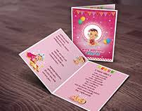 Ceremony Cards F Baby Rice Ceremony Annaprashan Card Design 1 On Behance