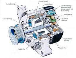 automotive alternator cutaway teknisk illustration pinterest