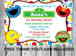 sesame street online invitations all the best invitation in 2017