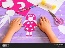 child made angel doll cardboard image u0026 photo bigstock