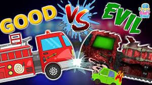 fire truck war good vs evil scary fire vehicles halloween