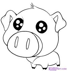 Adult Pig Coloring Pages Drawing Pigs Picture Of A Pig To Color Pig Coloring Pages