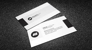 Minimal Business Card Designs Minimal Monochrome Business Card Template