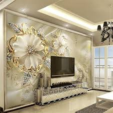 custom wallpaper for living room diamond jewelry large scale