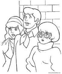 scooby doo color cartoon characters coloring pages color