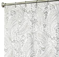 Zombie Pinup Shower Curtain grey and blue paisley shower curtain u2022 shower curtain