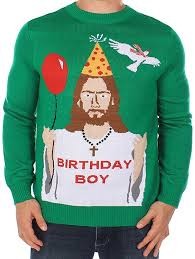 s sweater happy birthday jesus