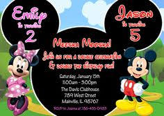 mickey and minnie twin birthday invitation twin invitation