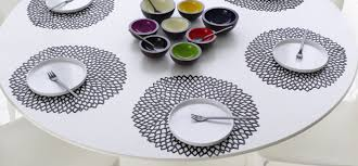chilewich table placemats u0026 runners dahlia black floral