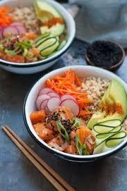 cuisine japonaise santé salmon poké bowl recette idée souper cuisine japonaise et