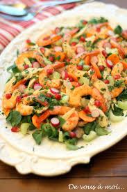 comment cuisiner des blancs de poulet de vous à moi salade fraicheur poulet crevettes