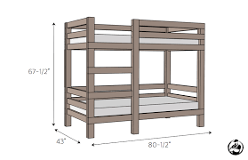 How To Build A Bunk Bed Frame 2x4 Bunk Bed Simple Diy Bunk Bed And Bunk Bed Plans