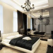 Modern Bedrooms For Men - simple modern bedroom for men with wooden bed and lighting