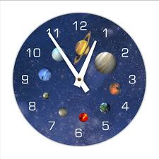 amazon com decorative outerspace solar system wall clock home amazon com decorative outerspace solar system wall clock home kitchen