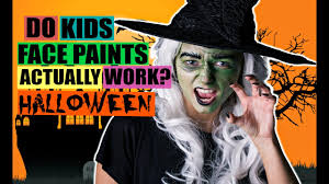 do kids face paints actually work halloween witch youtube