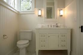 interior great small white bathroom decoration using mounted wall