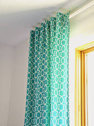 Retro Curtains Remodelaholic Simple Sewn Back Tab Curtains