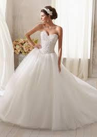 morilee bridal sparkling crystal beading on tulle wedding dress