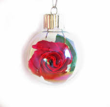 glass ornament origami ornament small glass bulb origami