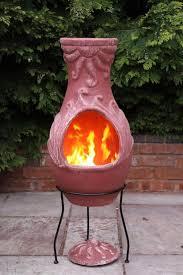 Extra Large Clay Chiminea 4 Elements Fire Clay Chimenea Patio Heater Savvysurf Co Uk