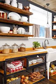 how to organize open kitchen cabinets farmhouse kitchen open shelves and cabinets rustic