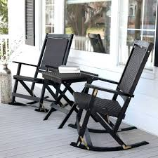 Patio Rocking Chairs Wood Outdoor Rocking Chair Set Black Wicker Rocking Chairs Resin Wicker