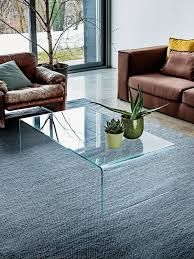 bridge curved glass coffee table to buy online glassdomain