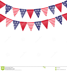 Banners Flags Pennants American Flags On The Stock Illustration Image 67384805