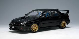 black subaru autoart 2006 subaru impreza wrx sti black 78683 in 1 18 scale