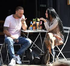 calum best does a spit pact with tattooed brunette daily mail online
