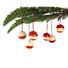 handcrafted wooden dã cor baubles set of six