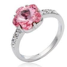 aliexpress buy new arrival hight quality white gold new top quality pink austrian flower rings for women