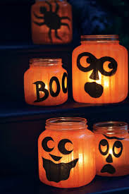 halloween paper lanterns pumpkin jar lights