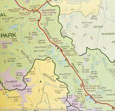 Canadian Rockies Map Banff National Park Hiking Map Gem Trek U2013 Mapscompany