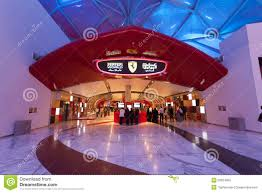 ferrari building ferrari world theme park in abu dhabi editorial stock image