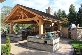 Backyard Pub And Grill by Entertaining Space Complete With An Outdoor Kitchen Exterior