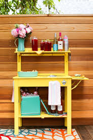 Potting Bench Ikea Potting Bench Into A Party Cart Tutorial Salty Canary
