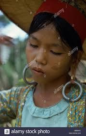 earrings malaysia malaysia southeast asia borneo sarawak kayan woman with