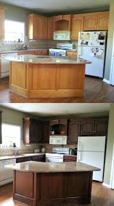 how to stain your cabinets darker how to gel stain your cabinets with ease diy kitchen