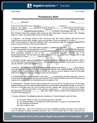 installment promissory note template free promissory note template library templates