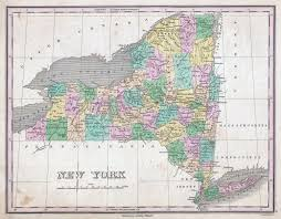 Maps Of New York by Large Detailed Old Administrative Map Of New York State U2013 1827