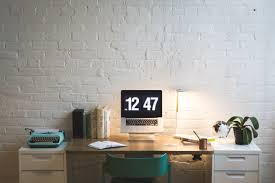 picture of organized workspace free stock photo