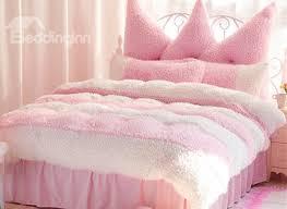 romantic color block 4 piece velvet bedding sets duvet cover
