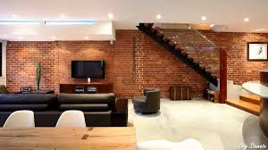 how to decorate living room walls exposed brick walls into interior décor youtube