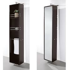 Black Bathroom Wall Cabinet by Wyndham Claire Rotating Wall Cabinet Wall Floor Mounted Storage